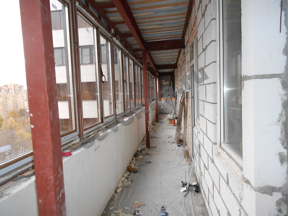 Остекление балконов и лоджий стеклопакетами, профиль kbe, ve.