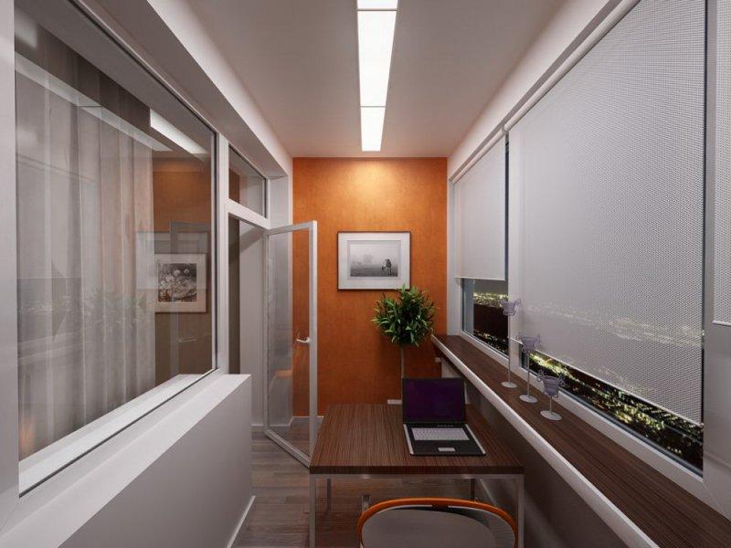 Дизайн рабочий кабинет на лоджии фото дизайн