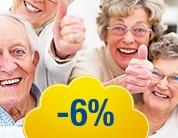 Пенсионерам скидка 6%